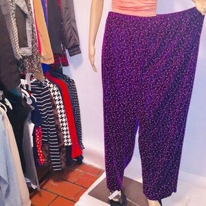 Party Swede sparkly star prints pants  Size 3X by